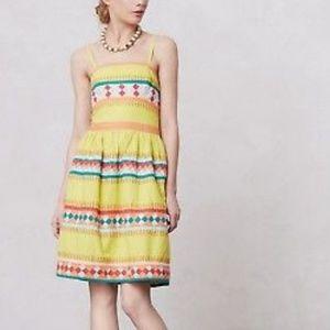 Anthropologie Leifsdottir Quilotoa strapless dress